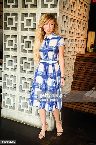 """Jennette McCurdy Promotes City TV/ Netflix Series """"Between"""" at Soho Metropolitan Hotel on June 29, 2016 in Toronto, Canada."""
