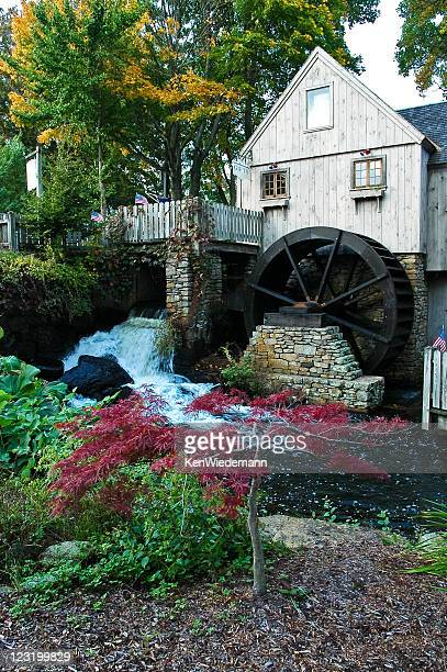 jenney grist mill - plymouth massachusetts stock photos and pictures