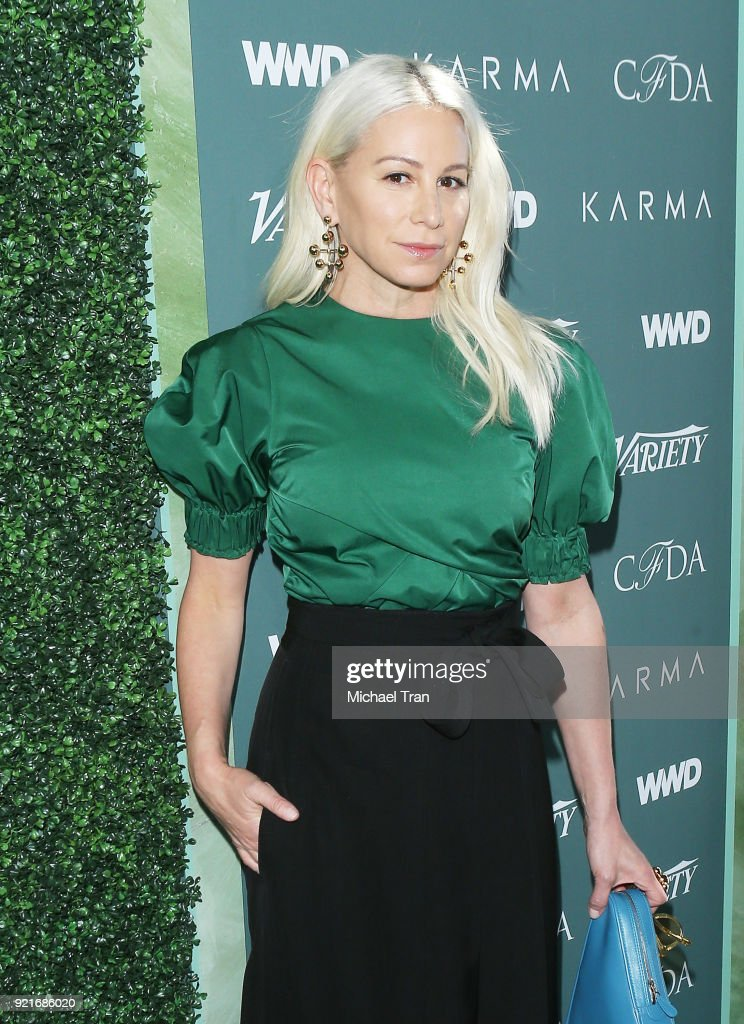 Jennfier Fisher arrives to the Council of Fashion Designers of America luncheon held at Chateau Marmont on February 20, 2018 in Los Angeles, California.