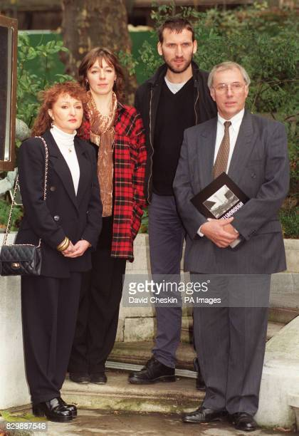 Jenni and Trevor Hicks whose two teenage daughters were victims of the 1989 Hillsborough disaster with actors Annabelle Apsion and Christopher...