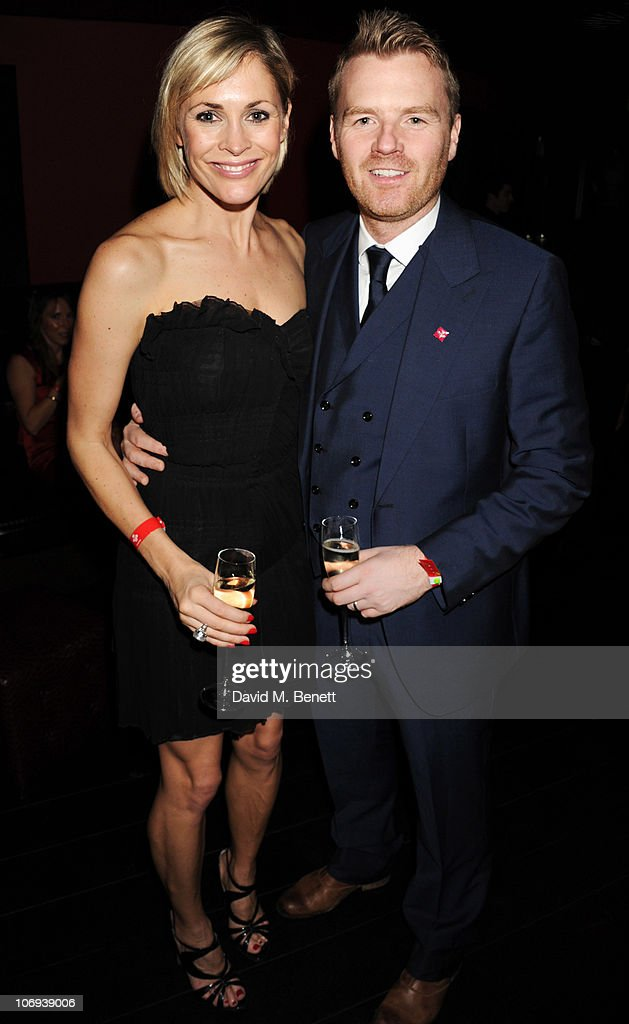 Jenni Falconer adn James Midgley attend the afterparty following The Prince's Trust Rock Gala 2010 supported by Novae at The Baglioni Hotel on November 17, 2010 in London, England.