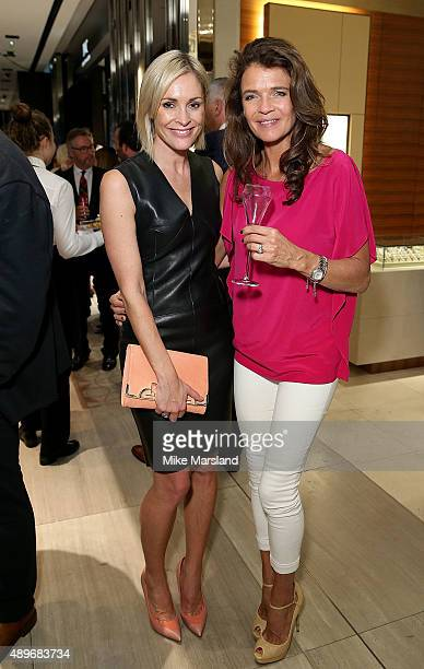 Jenni Falconer and Annabel Croft attend The Prince Princess Of Wales Hospice charity event at Watches of Switzerland on September 23 2015 in London...