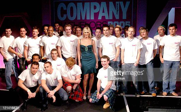 Jenni Falconer and Bachelors during Company Magazine's Bachelor of the Year Awards 2005 Arrivals Press Room at KOKO in London Great Britain