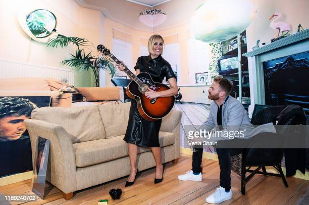 Jenni Falconer and James Midgeley attending Masterplan25 The Oasis Photographs private view on November 21 2019 in London England