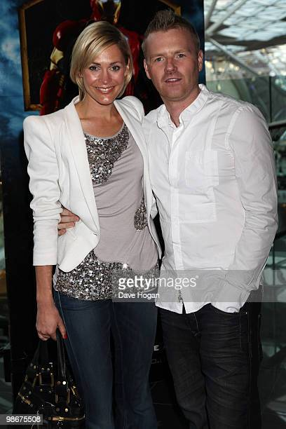 Jenni Falconer and James Midgley arrive at a VIP Screening of 'Iron Man 2' held at the Vue Westfield on April 26 2010 in London England