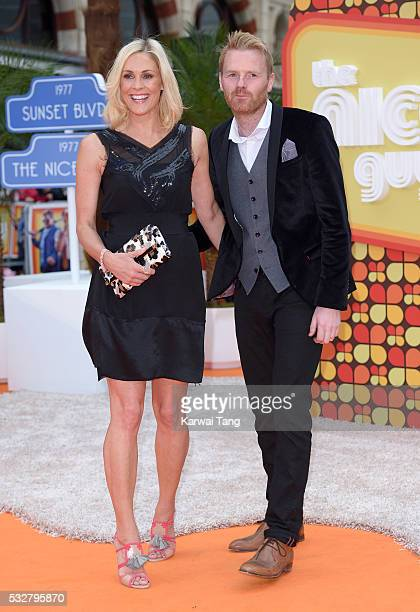 Jenni Falconer and James Midgley arrive for the UK Premiere of 'The Nice Guys' at Odeon Leicester Square on May 19 2016 in London England