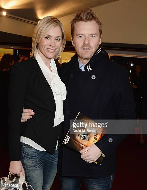 Jenni Falconer and James Midgley attend a NT Live gala performance of War Horse at The New London Theatre Drury Lane on February 27 2014 in London...