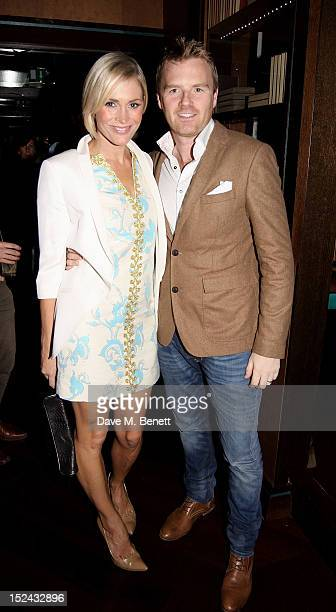 Jenni Falconer and James Midgley attend as Raffles hosts 'The Autumn Party' featuring Noisettes on September 20 2012 in London England
