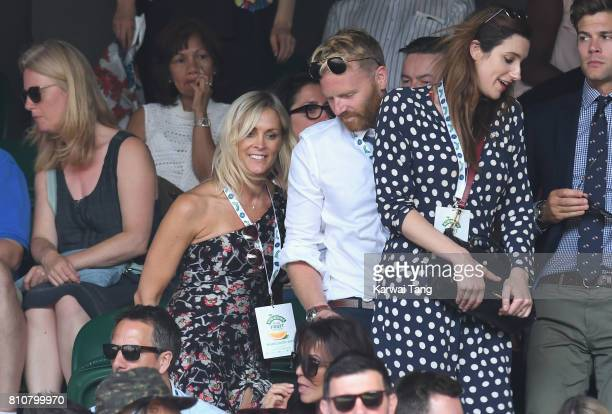 Jenni Falconer and James Midgley attend day six of the Wimbledon Tennis Championships at the All England Lawn Tennis and Croquet Club on July 8 2017...