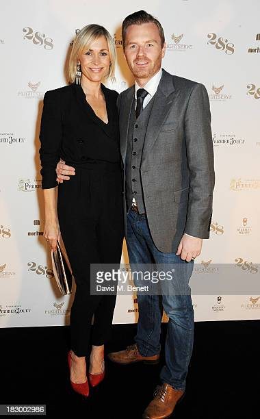 Jenni Falconer and James Midgley attend the 1st birthday party of 28 Club inside Mortons on October 3 2013 in London England
