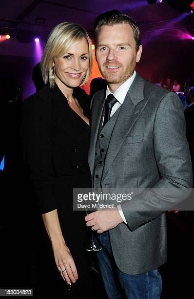 Jenni Falconer and James Midgley attend the 1st birthday party of 28 Club at Mortons on October 3 2013 in London England