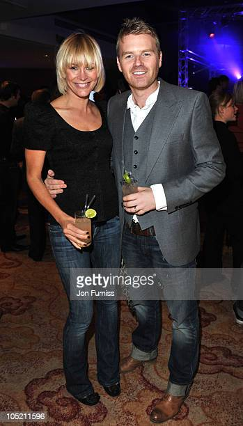 Jenni Falconer and James Midgley attend 'The Asahi Rising Stars Cocktail Competition' on October 12 2010 in London United Kingdom