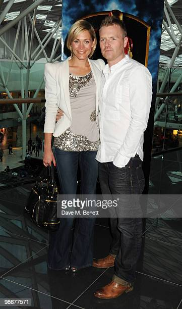 Jenni Falconer and James Midgley attend the 'Iron Man 2' VIP screening at Vue Westfield on April 26 2010 in London England