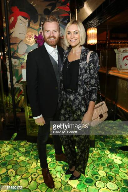 Jenni Falconer and James Midgley attend The Ivy Asia St Paul's Launch Party on November 14 2019 in London England
