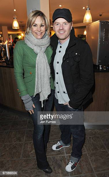 Jenni Falconer and James Midgley attend the launch of SAW Alive the World's most extreme live horror maze at Thorpe Park on March 9 2010 in Chertsey...