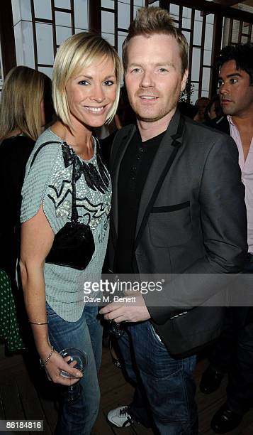Jenni Falconer and James Midgley attend the launch party for the Sanctum Soho Hotel on April 23 2009 in London England