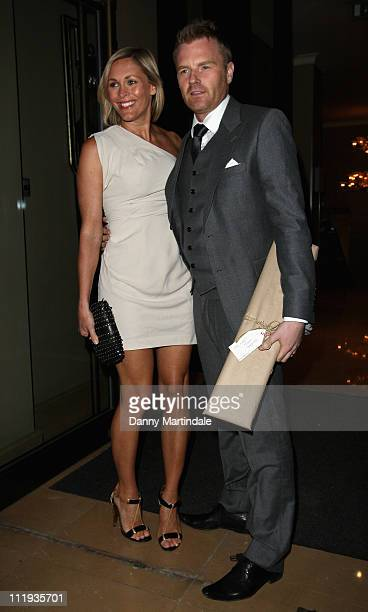 Jenni Falconer and James Midgley attend the post wedding party of Angellica Bell and Michael Underwood at May Fair Hotel on April 9 2011 in London...