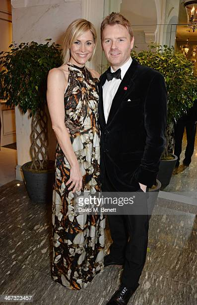 Jenni Falconer and James Midgley attend The Prince's Trust Invest In Futures dinner at The Savoy Hotel on February 6 2014 in London England