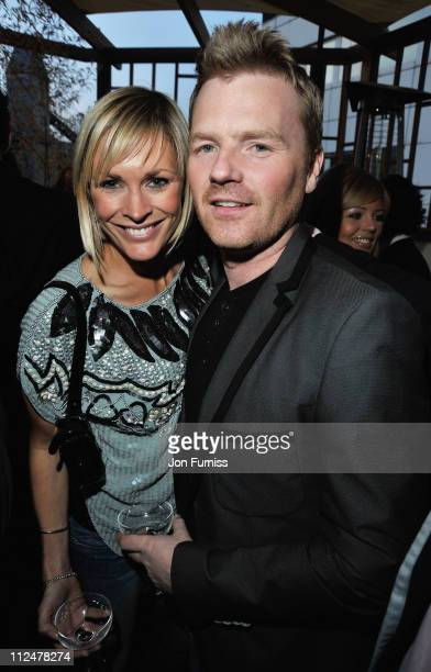 Jenni Falconer and James Midgley attend the Sanctum Soho Hotel Launch Party at the Sanctum Soho Hotel on April 23 2009 in London England