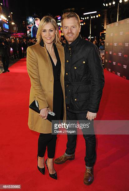 Jenni Falconer and James Midgley attend the World Premiere of House of Cards Season 3 at The Empire Cinema on February 26 2015 in London England