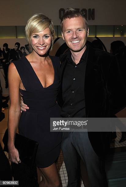 Jenni Falconer and James Midgley attends the UK Premiere of 'Harry Brown' at Odeon Leicester Square on November 10 2009 in London England