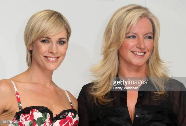 Jenni Falconer and Michelle Mone attends the launch of Ultimo's 'Bin Your Bra' campaign at Debenhams on October 6 2009 in London England