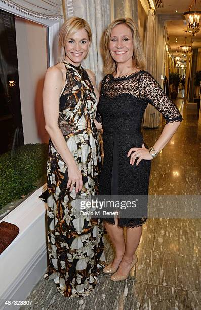 Jenni Falconer and Sophie Raworth attend The Prince's Trust Invest In Futures dinner at The Savoy Hotel on February 6 2014 in London England