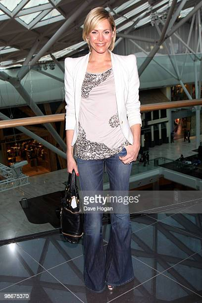 Jenni Falconer arrives at a VIP Screening of 'Iron Man 2' held at the Vue Westfield on April 26 2010 in London England