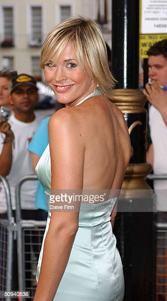 Jenni Falconer attends Glamour Magazine's Women Of The Year Awards celebrating achievements of women at Berkeley Square Gardens on June 8 2004 in...