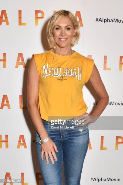 Jenni Falconer attends the Gala Screening of 'Alpha' at Picturehouse Central on August 19 2018 in London England