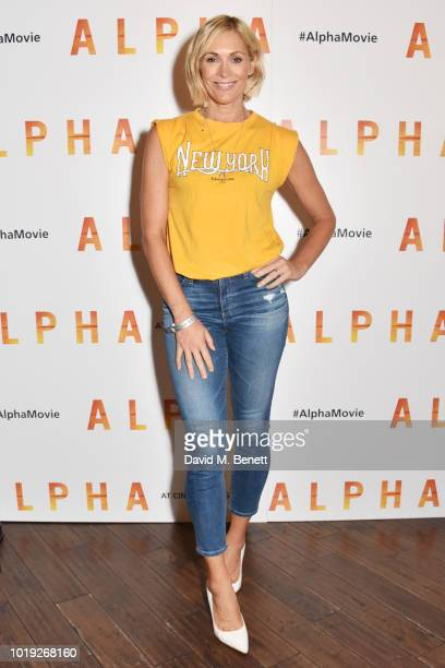 Jenni Falconer attends the Gala Screening of Alpha at Picturehouse Central on August 19 2018 in London England