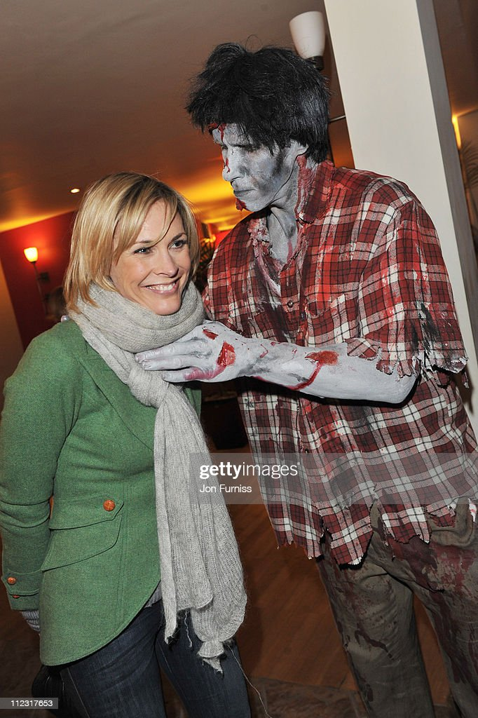 Jenni Falconer attends the launch of SAW Alive - the World's most extreme live horror maze at Thorpe Park on March 9, 2010 in Chertsey, England.