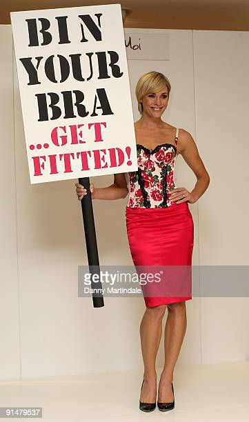 Jenni Falconer attends the launch of Ultimo's 'Bin Your Bra' campaign at Debenhams on October 6 2009 in London England