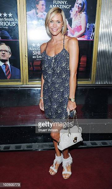 Jenni Falconer attends the press night for Richard Fleeshman's first performance in Legally Blonde The Musical at The Savoy Theatre on June 28 2010...