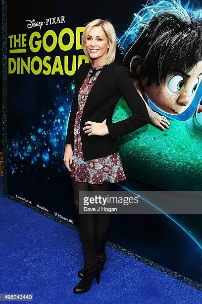 Jenni Falconer attends the UK Gala Screening of The Good Dinosaur at Picturehouse Central on November 22 2015 in London England