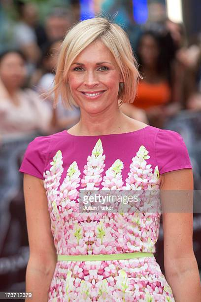 Jenni Falconer attends the UK Premiere of 'The Wolverine' at Empire Leicester Square on July 16 2013 in London England
