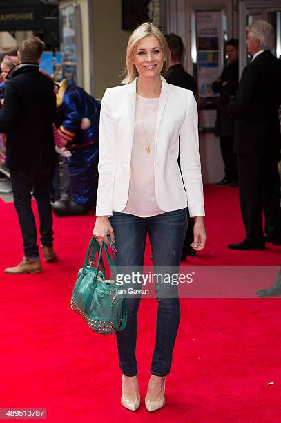 """Jenni Falconer attends the World Premiere of """"Postman Pat"""" at Odeon West End on May 11, 2014 in London, England."""