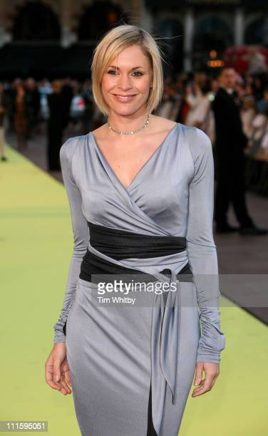 Jenni Falconer during Alien Autopsy London Premiere Outside Arrivals at Leicester Square in London Great Britain