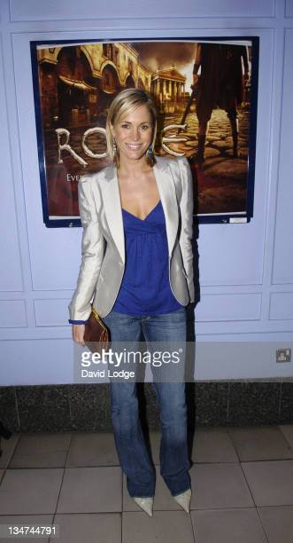 Jenni Falconer during HBO's Rome London Premiere at UGC Trocadero in London Great Britain