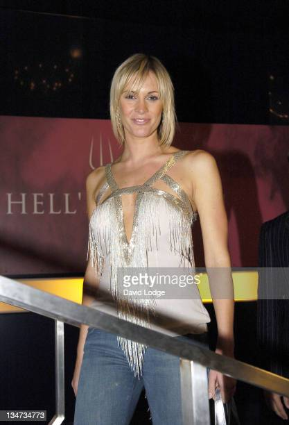 Jenni Falconer during Hell's Kitchen II Day 9 Arrivals at Brick Lane in London Great Britain