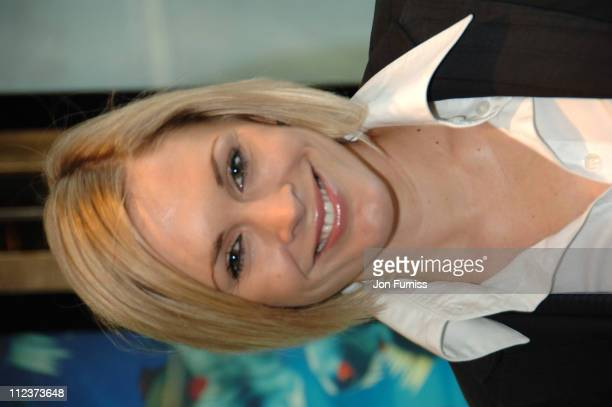 Jenni Falconer during Ice Age 2 The Meltdown London Premiere Inside Arrivals at Leicester Square in London Great Britain