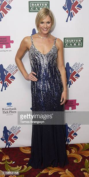 Jenni Falconer during Miss Great Britain 2006 Finals Arrivals February 25 2006 at Grosvenor House Hotel in London Great Britain
