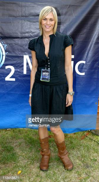 Jenni Falconer during O2 Wireless Music Festival 2005 Day 3 Backstage at Hyde Park in London Great Britain