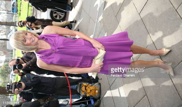 Jenni Falconer during TRIC Awards 2007 Outside Arrivals at Great Room Grosvenor House in London Great Britain