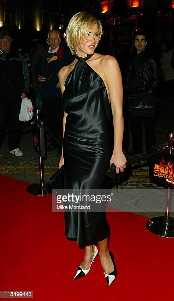 Jenni Falconer during Westend Premiere of Jerry Springer The Opera at Cambridge Theatre in London Great Britain
