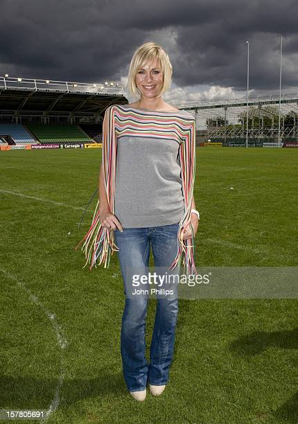 Jenni Falconer Is Pictured As 146 Men Take Part In World Record Attempt Of The Largest Gathering Of People In Pants In Association With Glossy Mag...