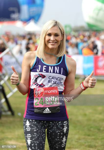 Jenni Falconer poses for a photo ahead of participating in The Virgin London Marathon on April 23 2017 in London England