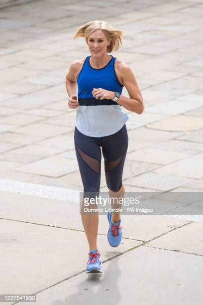 Jenni Falconer running through central London, following her Smooth Radio show. TV and radio presenter Jenni has been unveiled as the voice of new...