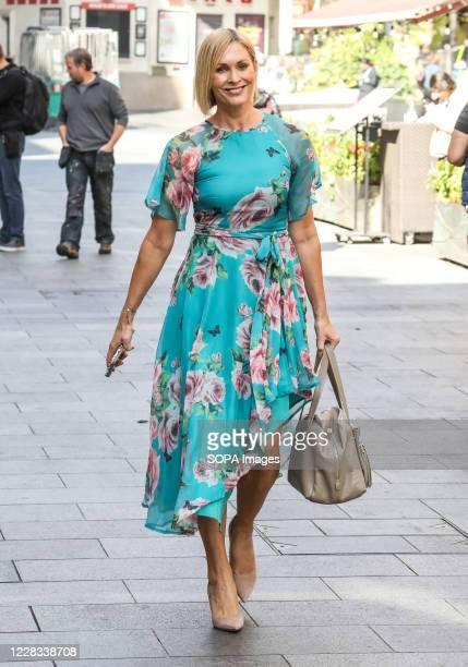 Jenni Falconer seen departing the Global Radio Studios in London.