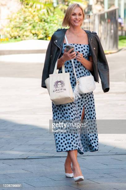Jenni Falconer seen leaving at Global Studios Smooth Radio London UK on 1 September 2020